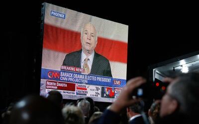 El discurso de John McCain tras su derrota en 2008