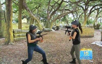 Ana Patricia y Vanessa arreglaron sus problemas en un juego de 'paint ball'