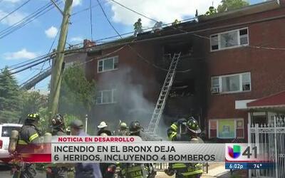 Seis heridos en un incendio en El Bronx