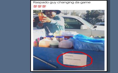 Hijinio Camacho, un elotero de California, vende sus productos en la Uni...