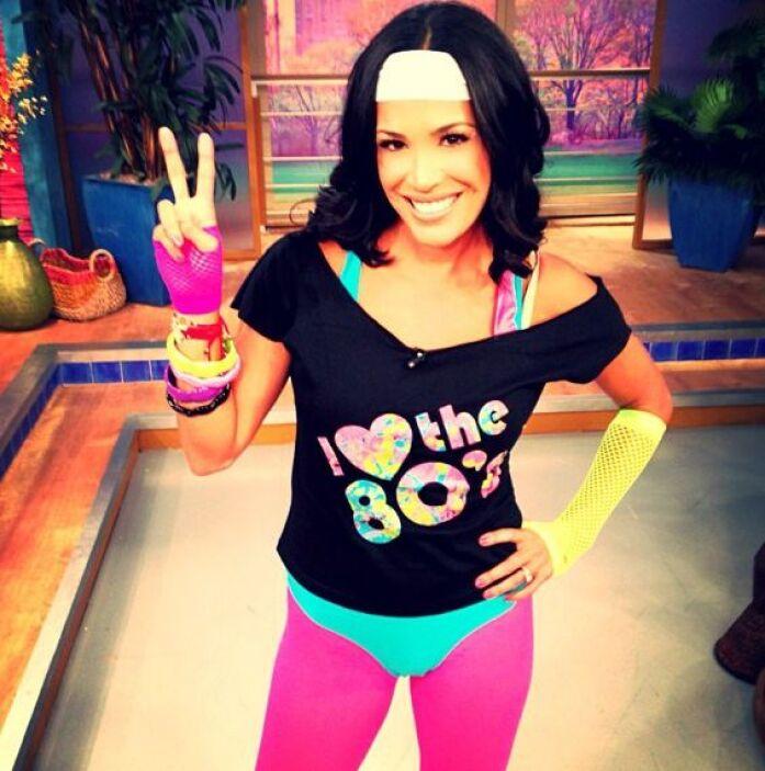 """""""¡Ejercicio al estilo de los 80!"""", mostró Karla Martínez. (Septiembre 6,..."""