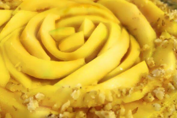 Torta de mango: Es una torta llena de sabor y puro placer. El bizcocho d...
