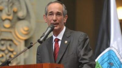 El presidente de Guatemala, Álvaro Colom.