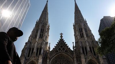 La Catedral de San Patricio, en Nueva York, principal templo de la Igles...