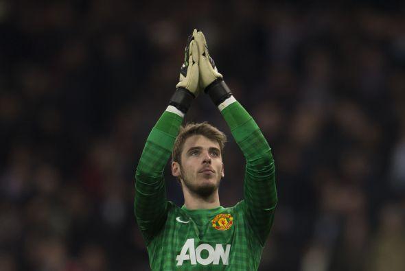 El arco es para el portero español David De Gea del Manchester United.