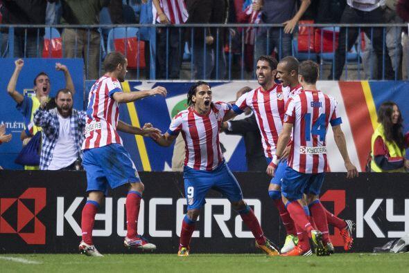 Falcao hizo dos tantos para el triunfo del Atlético de Madrid, af...