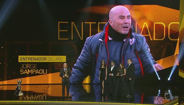 Jorge Sampaoli gana el Premio como Entrenador del Año 2015