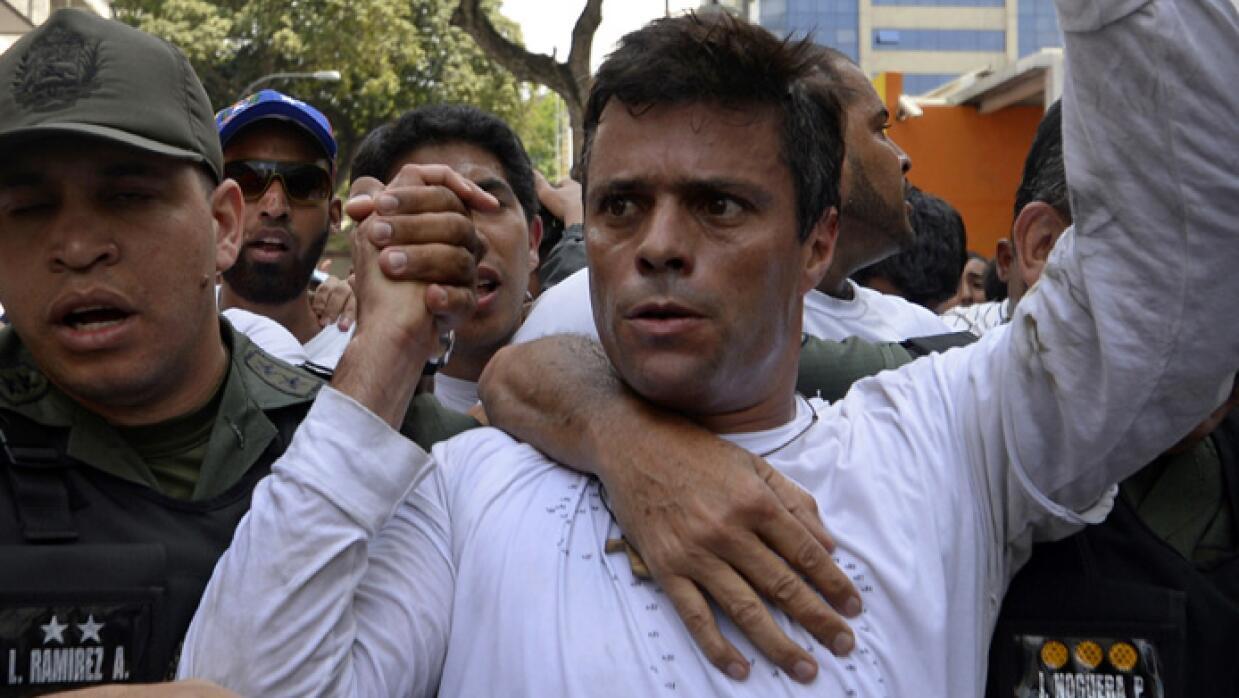 Leopoldo López fue arrestado en 2014.