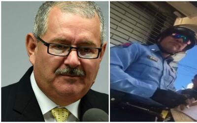 José Caldero y el agente suspendido Luis M. Ortiz Ortiz