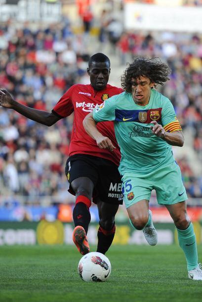 Cuando quedaba poco más de 10 minutos para el final, Carles Puyol le dio...