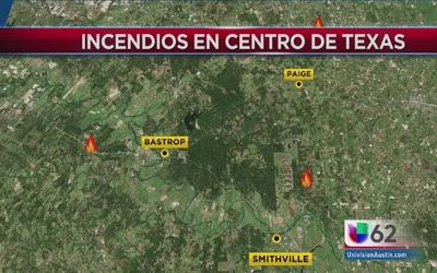Incendios afectan al condado Bastrop