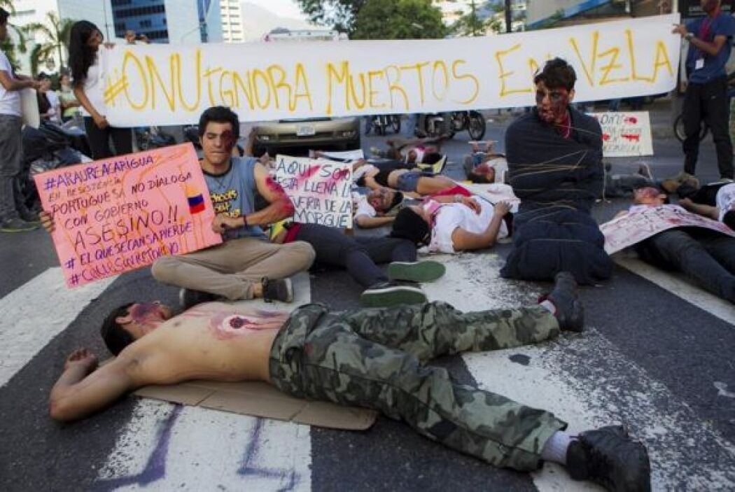 Venezuela vive desde el 12 de febrero una serie de protestas antiguberna...
