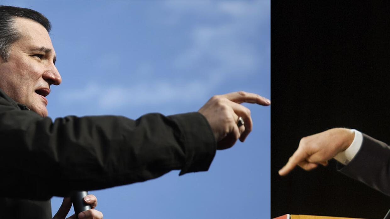 Ted Cruz (izqda) y Donald Trump