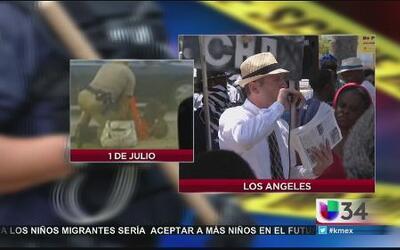Realizan protesta contra la brutalidad policíaca en California