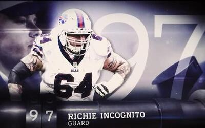 Top 100 Jugadores del 2016: (Lugar 97) G Richie Incognito - Bills
