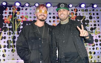 J Balvin y Nicky Jam, dos de los ganadores de la noche.