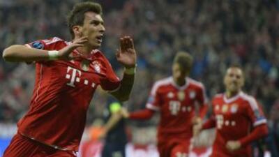 Mandzukic calmó las aguas teutonas apenas después del gol que le dio esp...