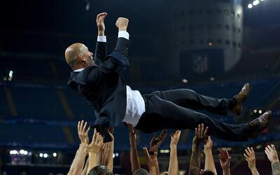 Zidane celebra su primer gran éxito como entrenador