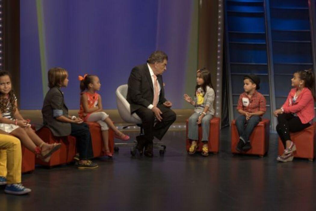 Esta vez el tema de conversación fue el amor. ¡El amor en los niños!