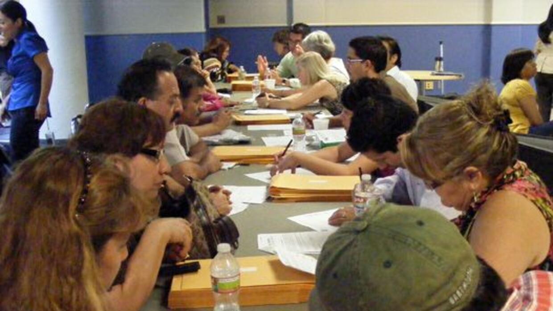 Foro de ciudadanía en San Antonio College en mayo 2011.