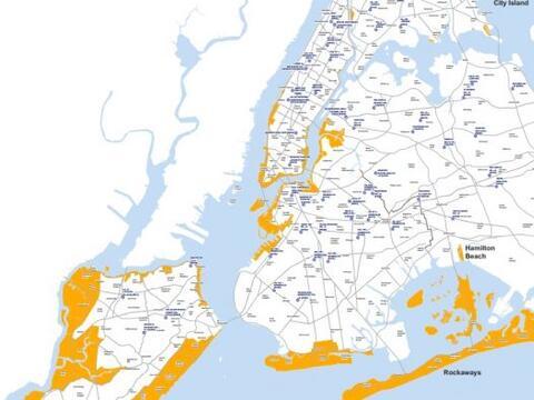 El gobierno de NY presentó un mapa con las zonas de evacuaci&oacu...