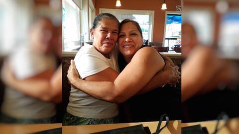 Maura y Ana Bertilia Ascencio duraron 13 años sin verse.