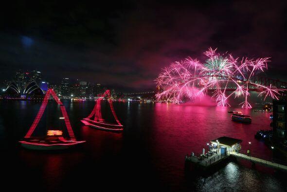 Las familias australianas disfrutan más el recibir el año nuevo en compa...