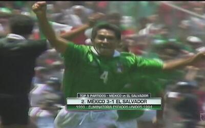 Top 5 de partidos de México vs. El Salvador