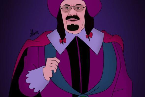 En esta imagen aparece el rey Abdullah de Arabia Saudita al estilo del G...