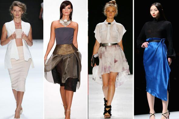 Desde las de tulipán hasta las 'pencil skirt', todas estas tendencias te...