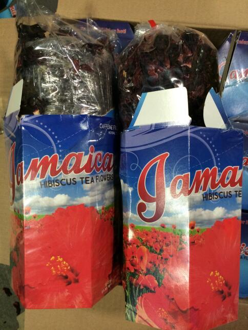 Droga disfrazada de hojas para hacer agua fresca de jamaica.