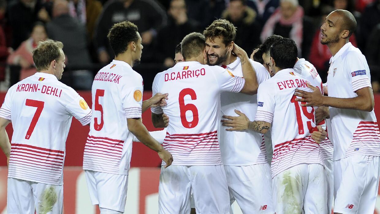 Fernando Llorente marcó un doblete con el Sevilla