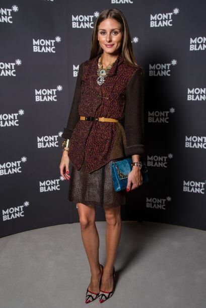 ¡Qué 'fashion' se ve el estampado de Olivia Palermo! Sin du...