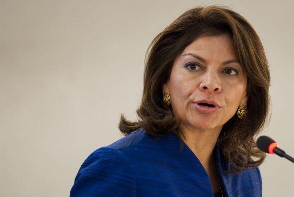 Otra latina de la lista en la presidenta de Colombia Laura Chinchilla, e...