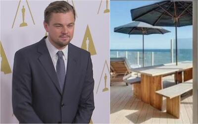 Miren ustedes nada más la casita que está alquilando Leonardo DiCaprio