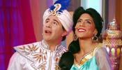 Francisca junto a Brad Kane de Aladdin