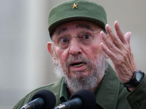 El expresidente cubano Fidel Castro pronunció su segundo discurso...