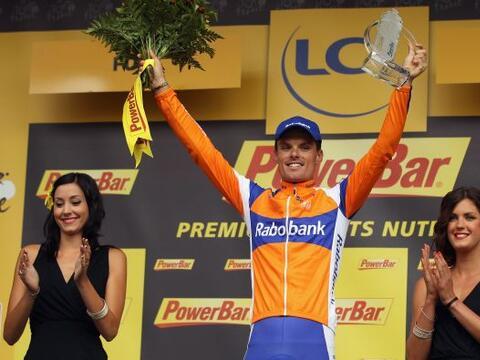 El español Luis León Sánchez, del equipo Rabobank,...