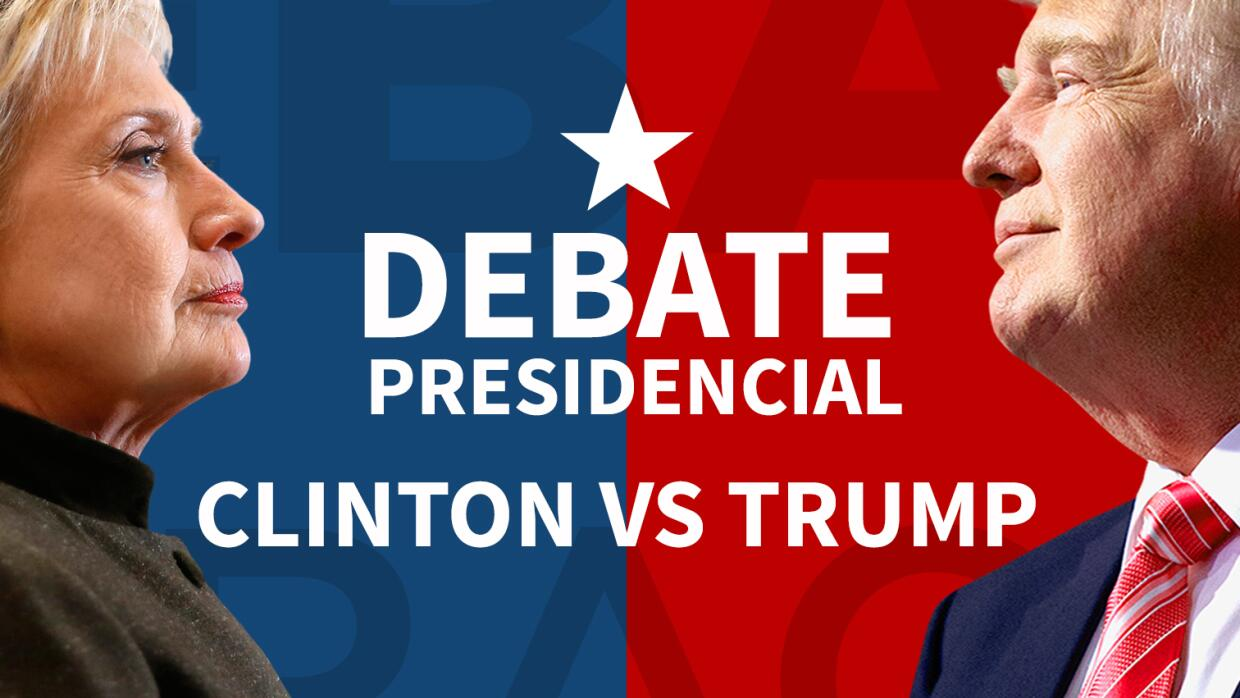 en vivo hillary clinton vs donald trump primer debate presidencial univision. Black Bedroom Furniture Sets. Home Design Ideas