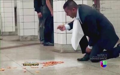 ¿Comería del suelo del metro?