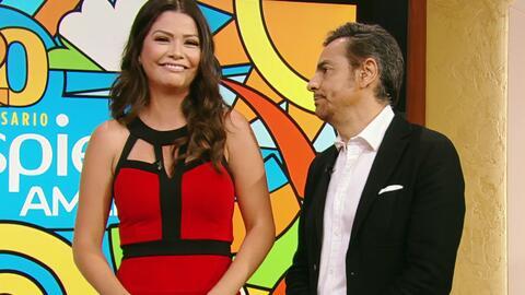 Eugenio Derbez le enseñó a Ana Patricia cómo contar buenos chistes