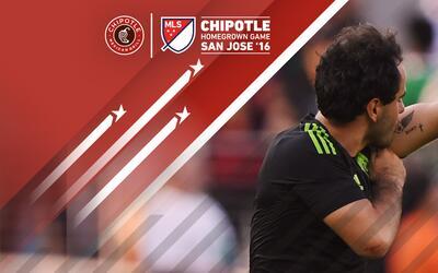 Luis Márquez celebra su gol en el Chipotle Homegrown Game