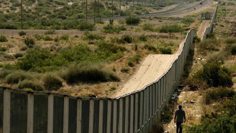 El muro fronterizo en la zona de Anapra, Ciudad Juárez.