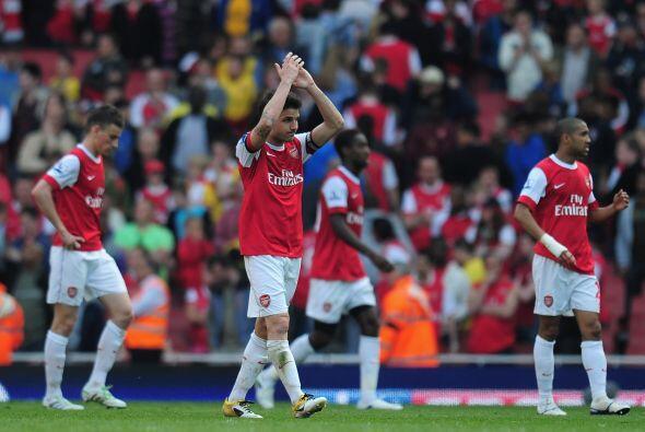 Arsenal se tuvo que conformar con este empate 1-1, aunuque aún no descar...