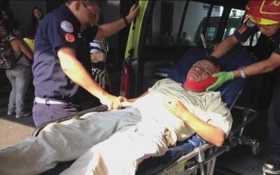 Mujer le clavó a su esposo un cuchillo en la cabeza en Guatemala