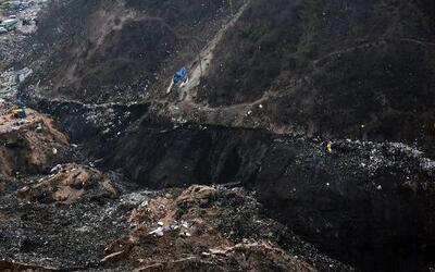 Nuevo video del deslave en un basurero de Guatemala