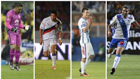 De izquierda a derecha, Moisés Muñoz, Orbelín Pineda, Hirving Lozano y Á...