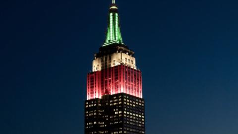 """Verde, blanco y rojo: """"Viva México"""" gritan las luces de..."""