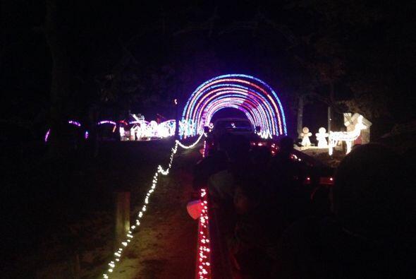 Otro espectacular túnel de luz.