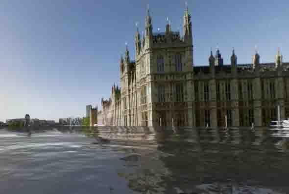 En esta otra foto de Londres se puede ver el Palacio de Wstminster. La h...